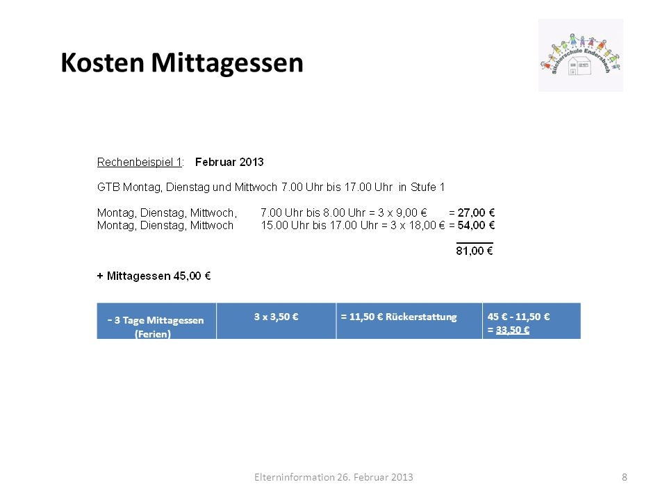 Elterninformation 26. Februar 2013