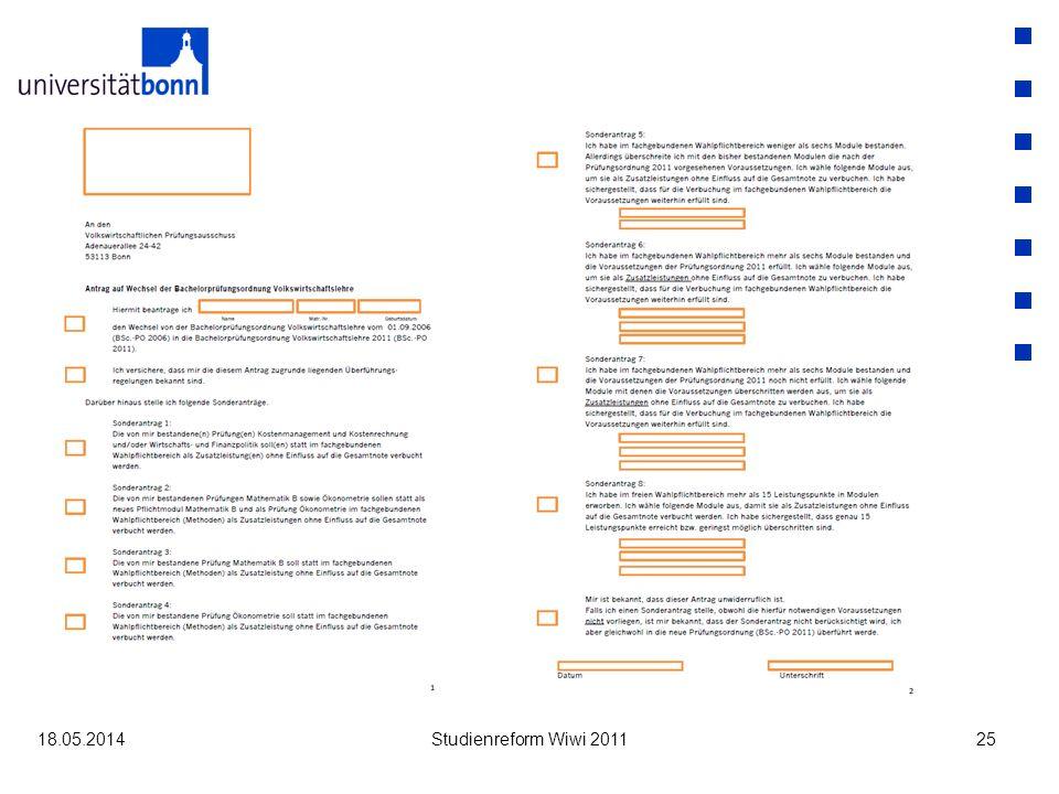 31.03.2017 Studienreform Wiwi 2011