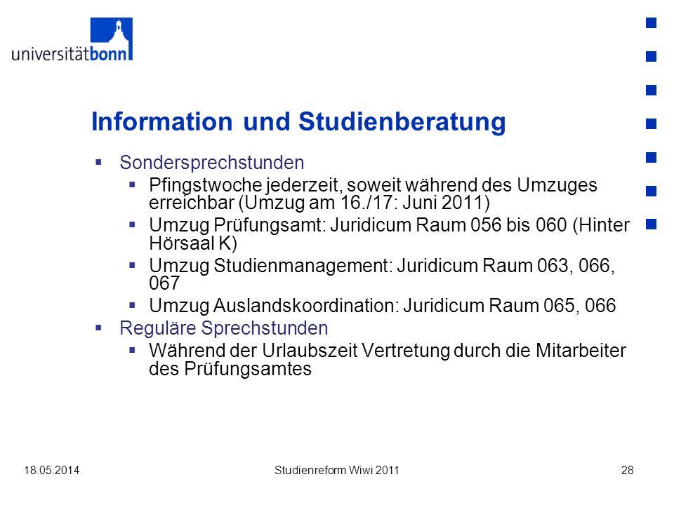 Information und Studienberatung