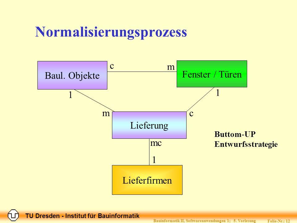 Normalisierungsprozess
