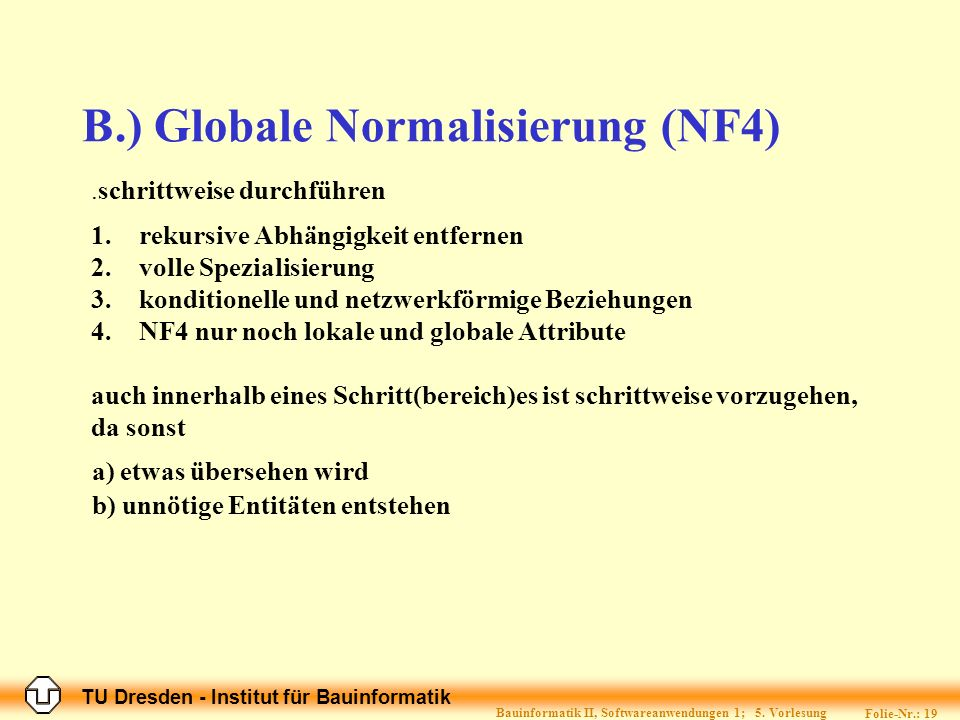 B.) Globale Normalisierung (NF4)