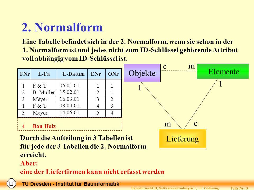 Bauinformatik II, Softwareanwendungen 1; 5. Vorlesung