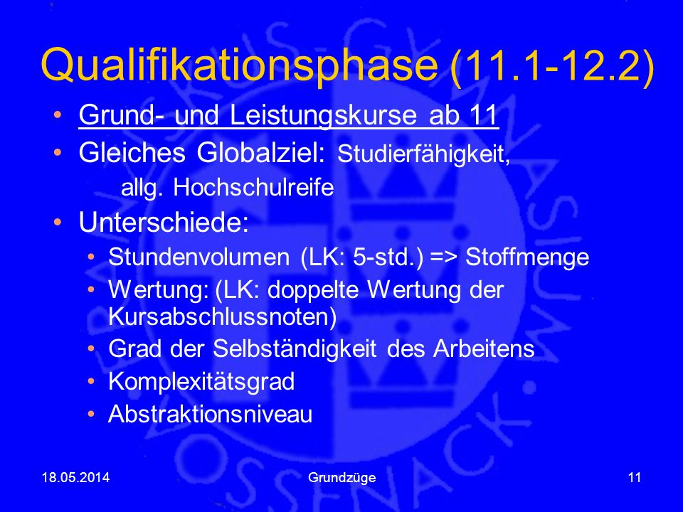 Qualifikationsphase (11.1-12.2)
