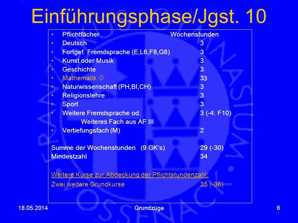 Einführungsphase/Jgst. 10