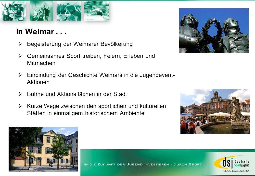 In Weimar . . . Begeisterung der Weimarer Bevölkerung