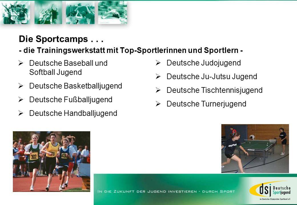Die Sportcamps . . . - die Trainingswerkstatt mit Top-Sportlerinnen und Sportlern -