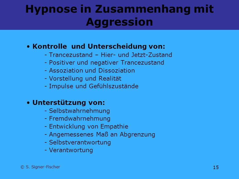 Hypnose in Zusammenhang mit Aggression
