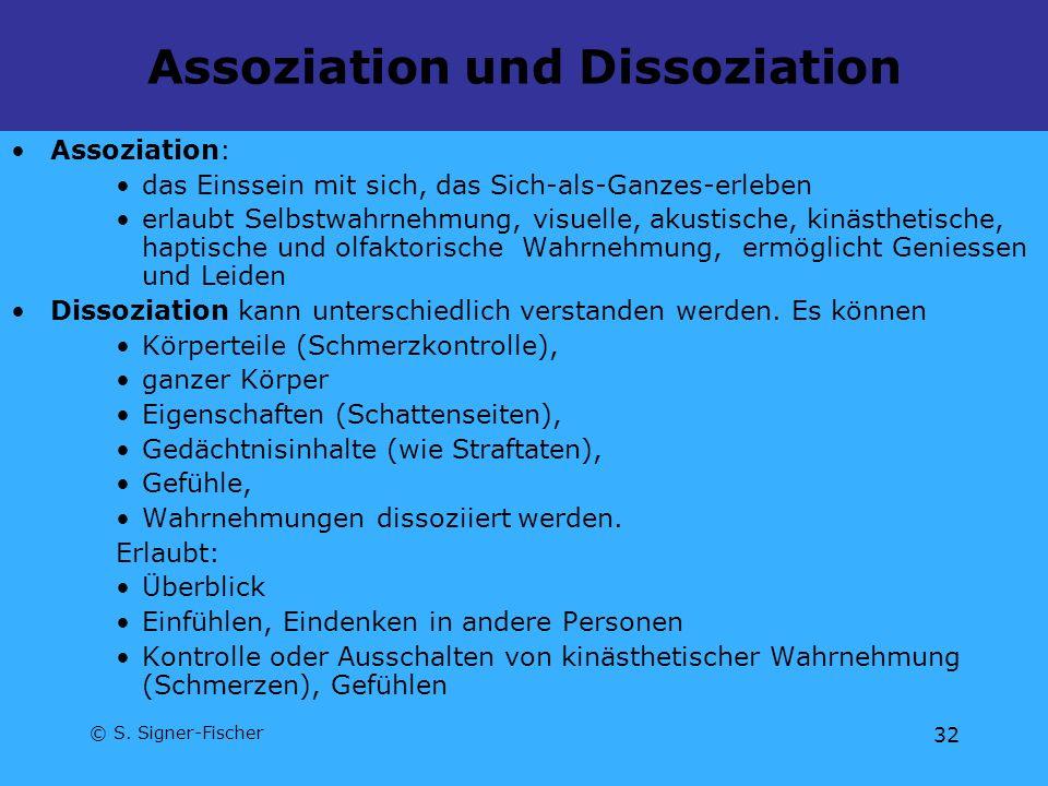 Assoziation und Dissoziation
