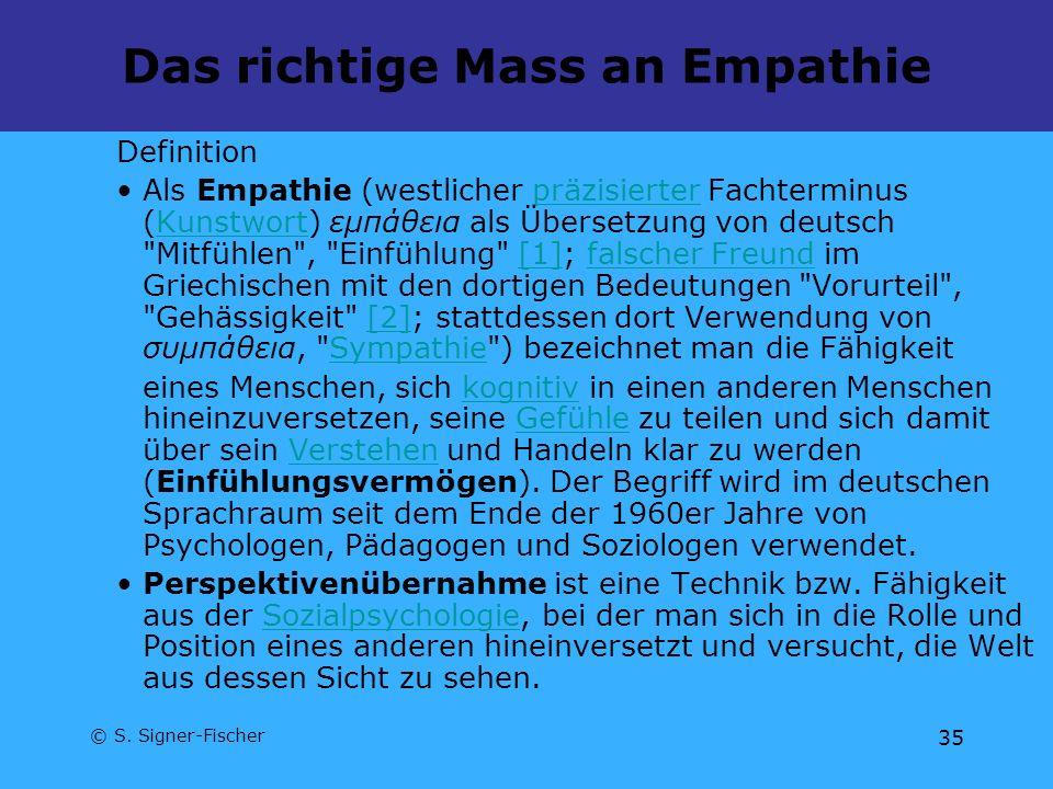 Das richtige Mass an Empathie