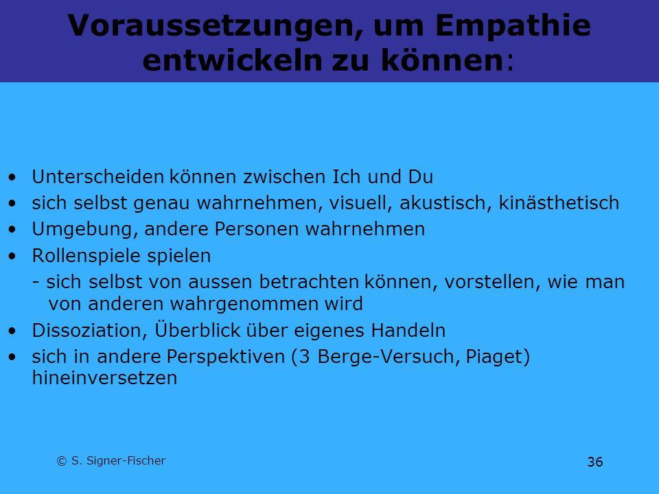 Voraussetzungen, um Empathie entwickeln zu können: