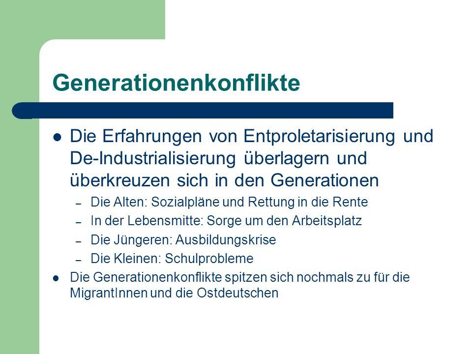 Generationenkonflikte