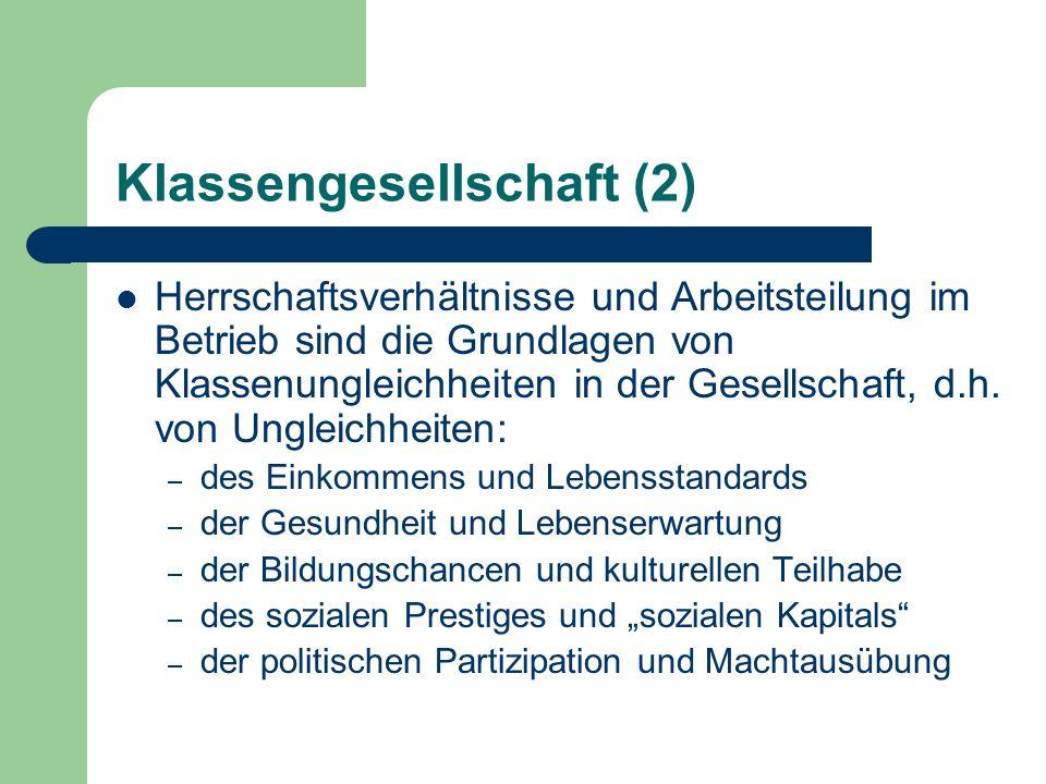 Klassengesellschaft (2)