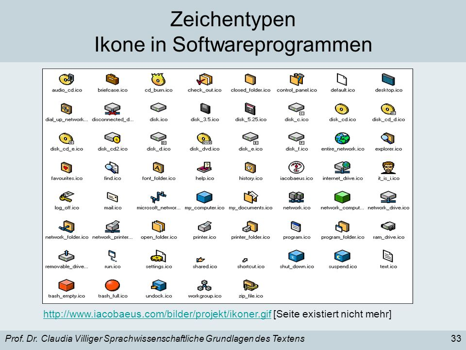 zeichentypen index ikon symbol