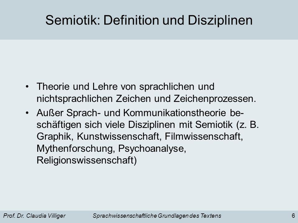 Semiotik: Definition und Disziplinen