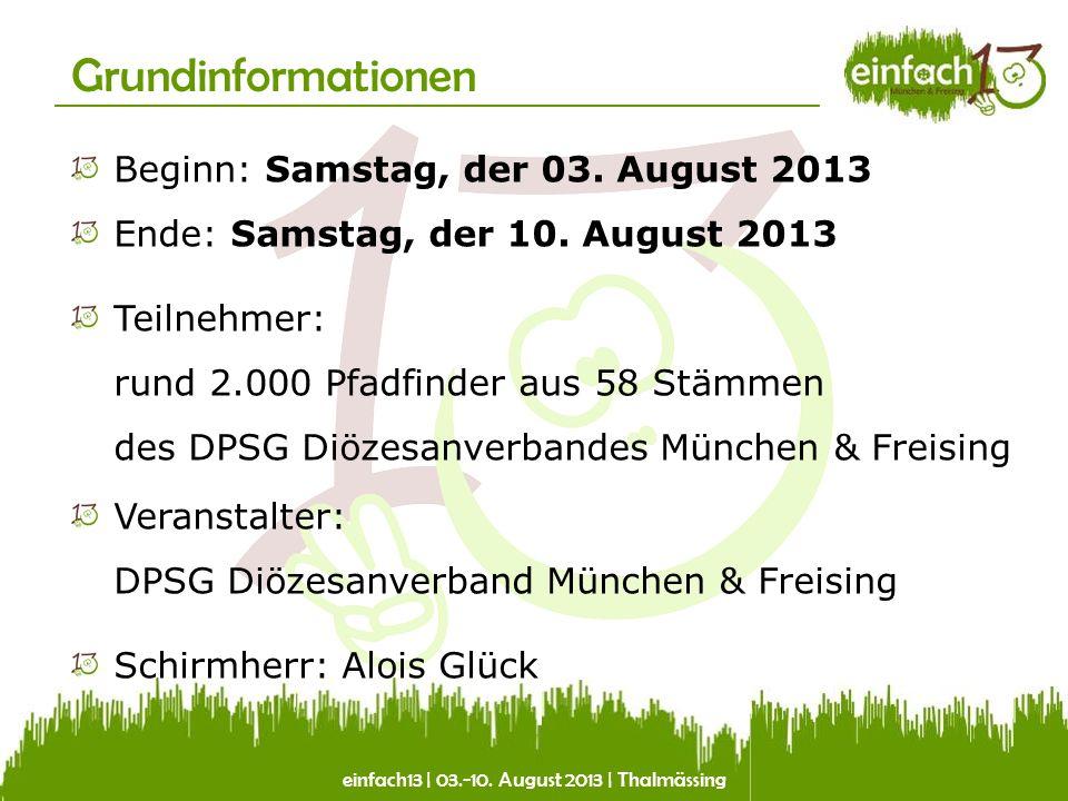 einfach13 | 03.-10. August 2013 | Thalmässing