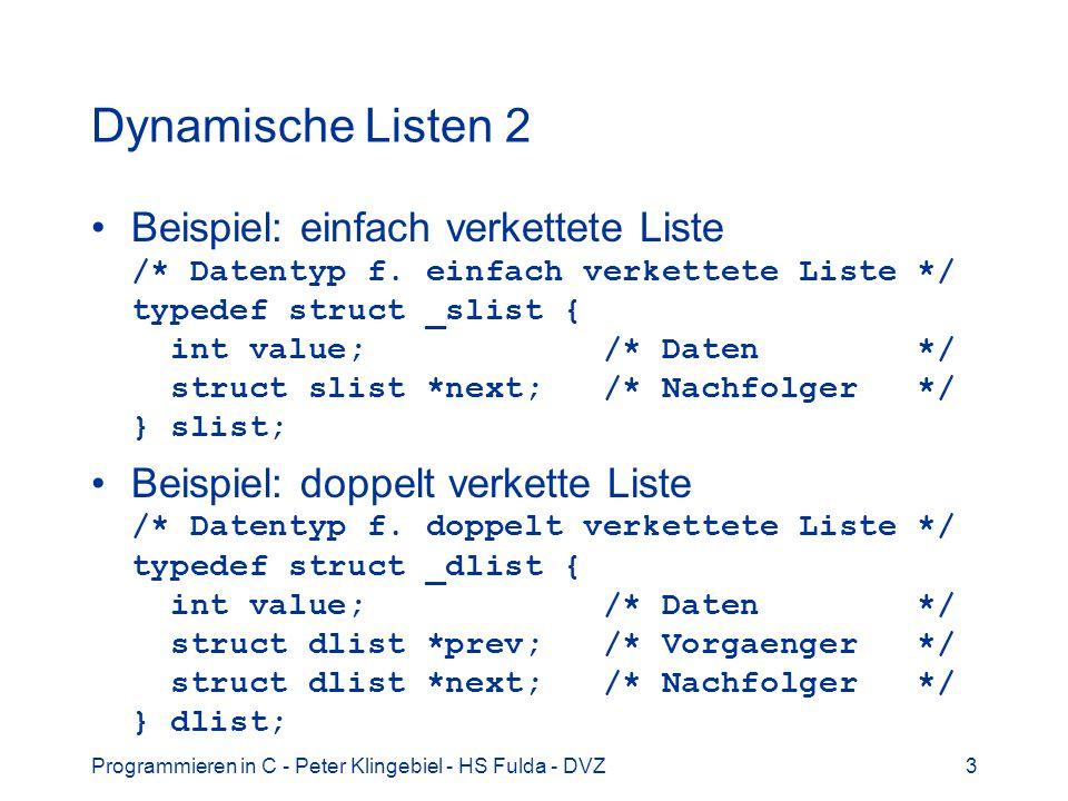Dynamische Listen 2