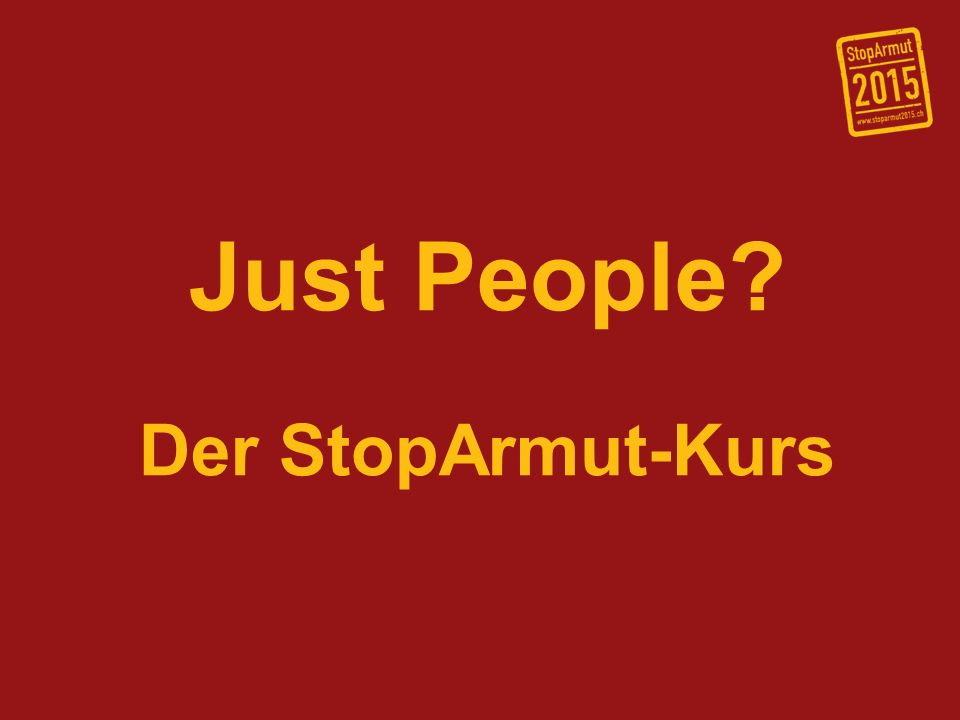 Just People Der StopArmut-Kurs