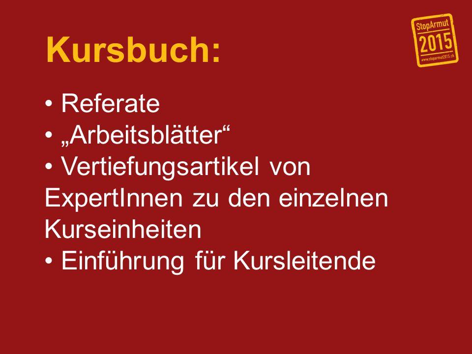 "Kursbuch: Referate ""Arbeitsblätter"