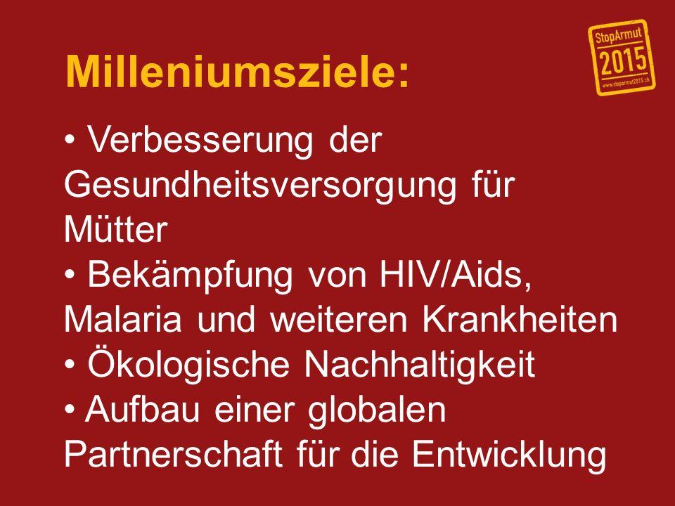 Milleniumsziele: Verbesserung der Gesundheitsversorgung für Mütter