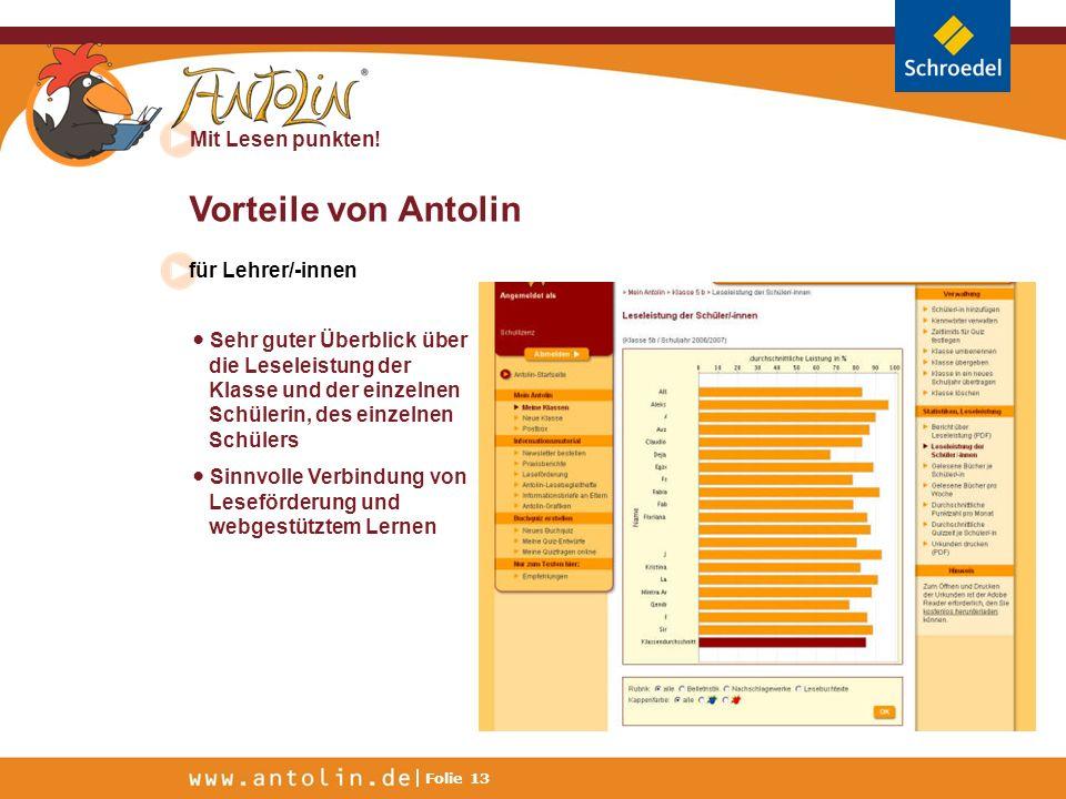 Vorteile von Antolin für Lehrer/-innen