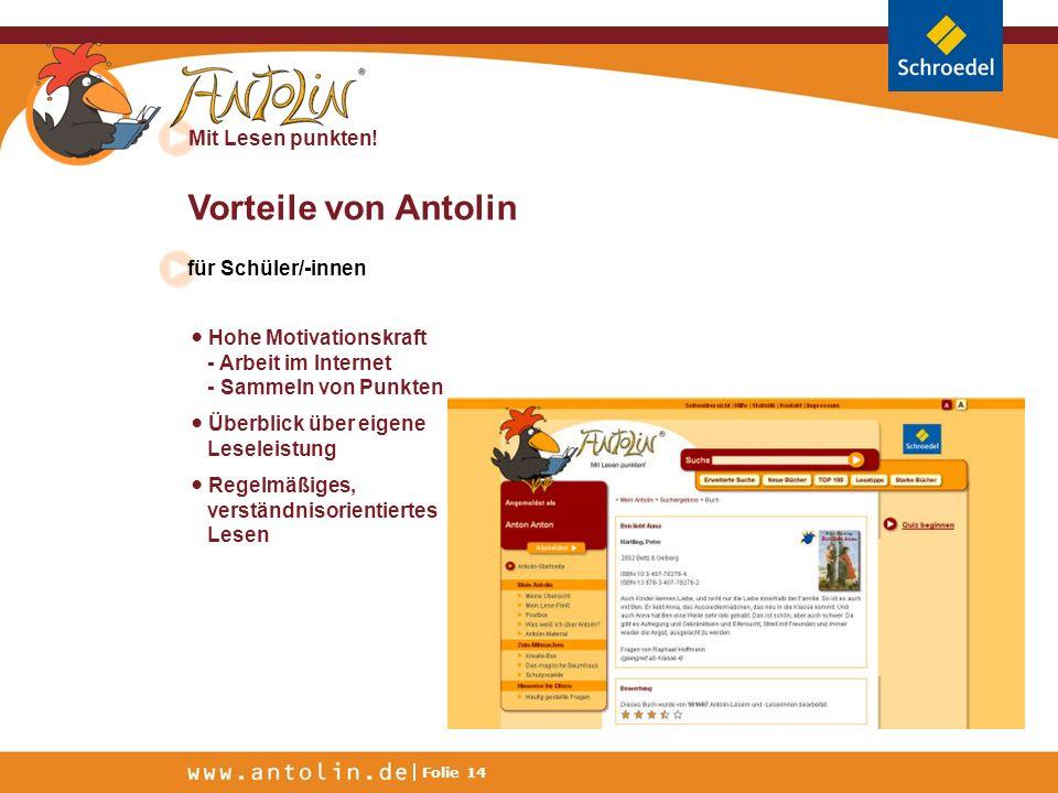 Vorteile von Antolin für Schüler/-innen