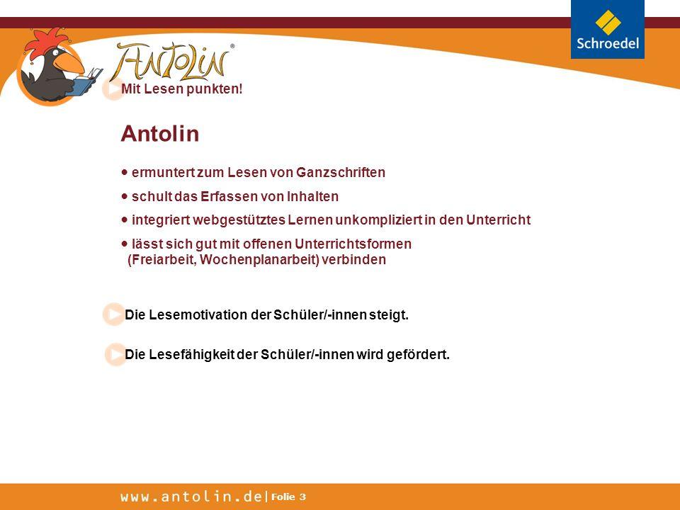 Antolin ● ermuntert zum Lesen von Ganzschriften