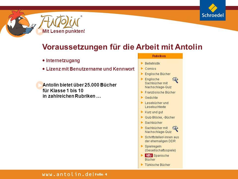 Voraussetzungen für die Arbeit mit Antolin