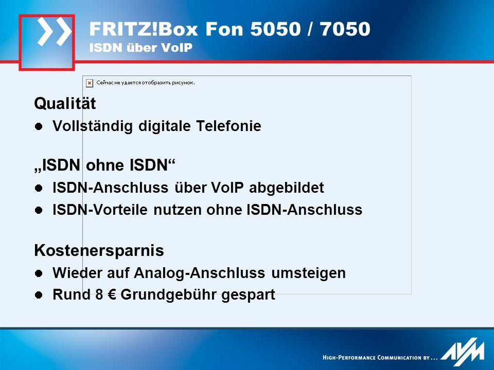 FRITZ!Box Fon 5050 / 7050 ISDN über VoIP