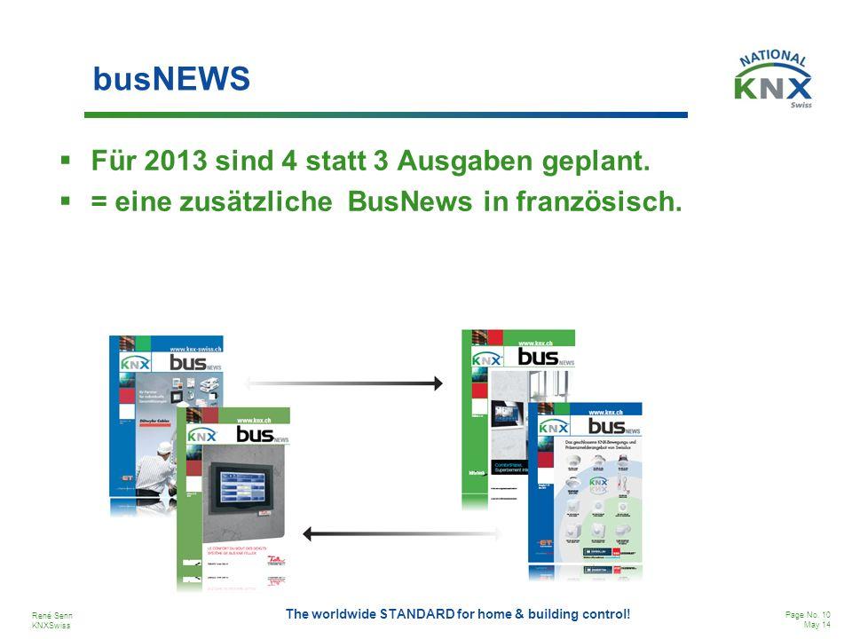 busNEWS Für 2013 sind 4 statt 3 Ausgaben geplant.