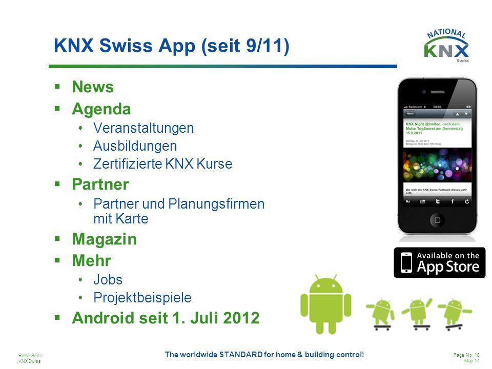 KNX Swiss App (seit 9/11) News Agenda Partner Magazin Mehr
