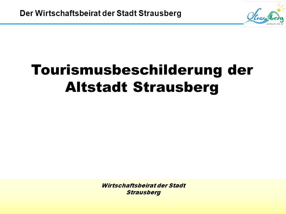Tourismusbeschilderung der Altstadt Strausberg