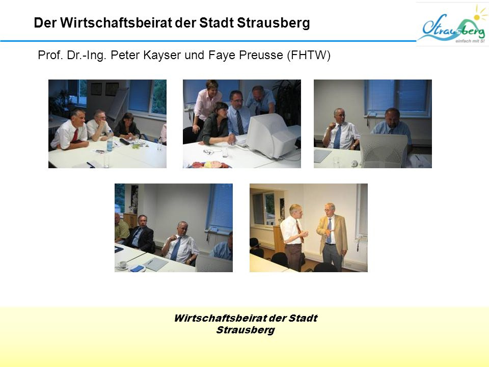 Der Wirtschaftsbeirat der Stadt Strausberg