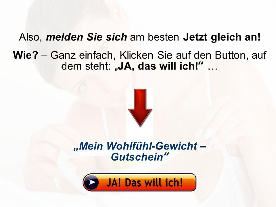 """""""Mein Wohlfühl-Gewicht – Gutschein"""