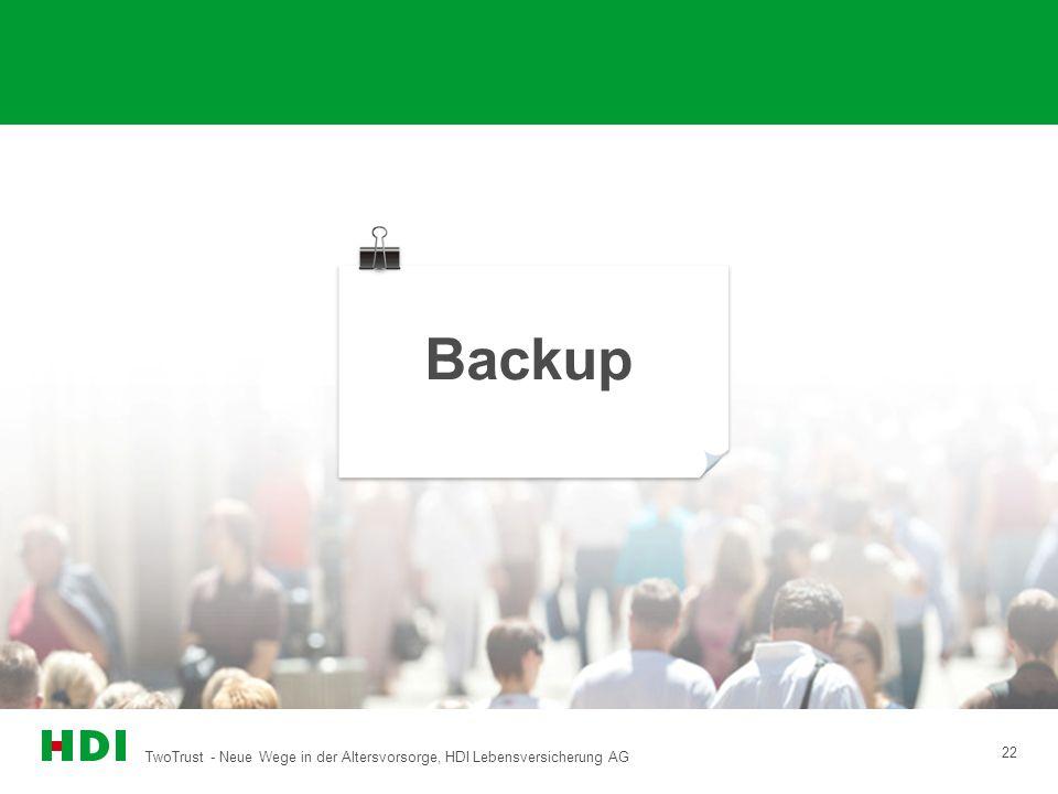 Backup TwoTrust - Neue Wege in der Altersvorsorge, HDI Lebensversicherung AG