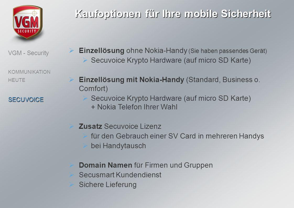 Kaufoptionen für Ihre mobile Sicherheit