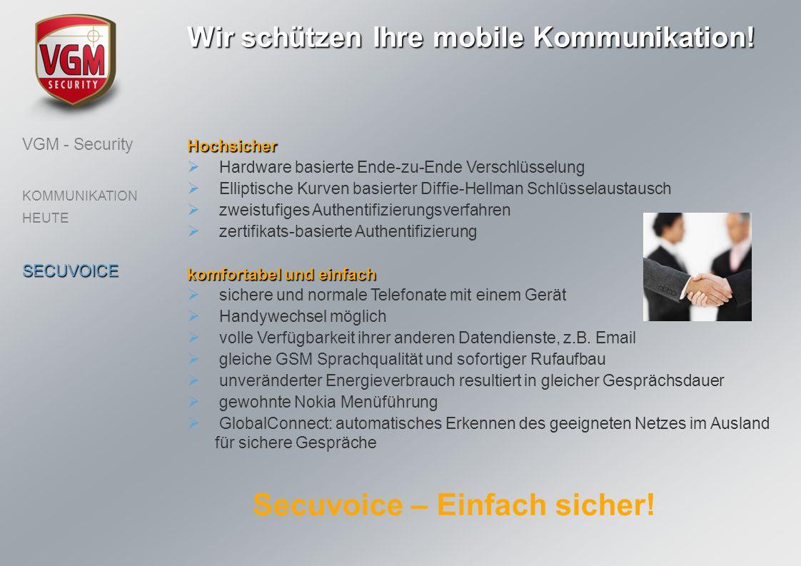 Wir schützen Ihre mobile Kommunikation! Secuvoice – Einfach sicher!