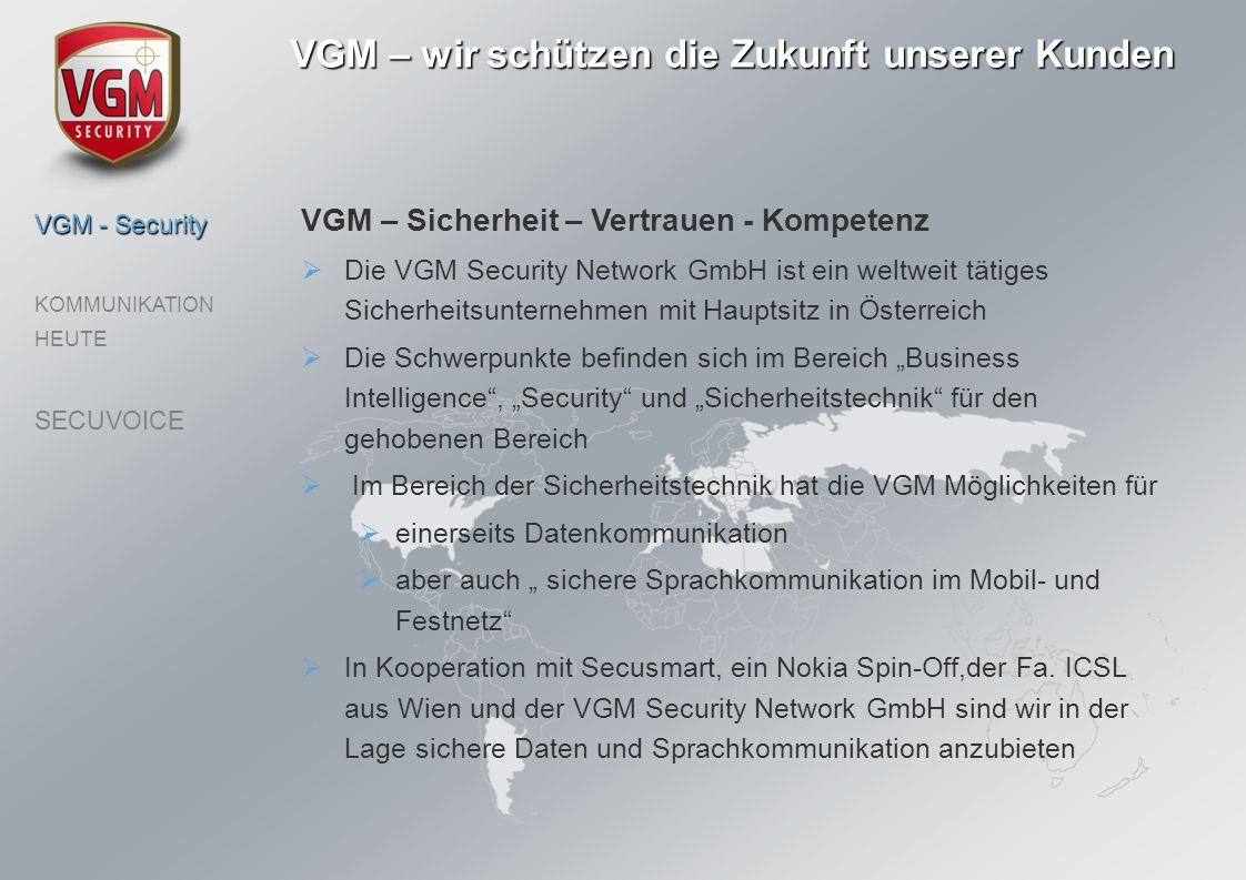 VGM – wir schützen die Zukunft unserer Kunden