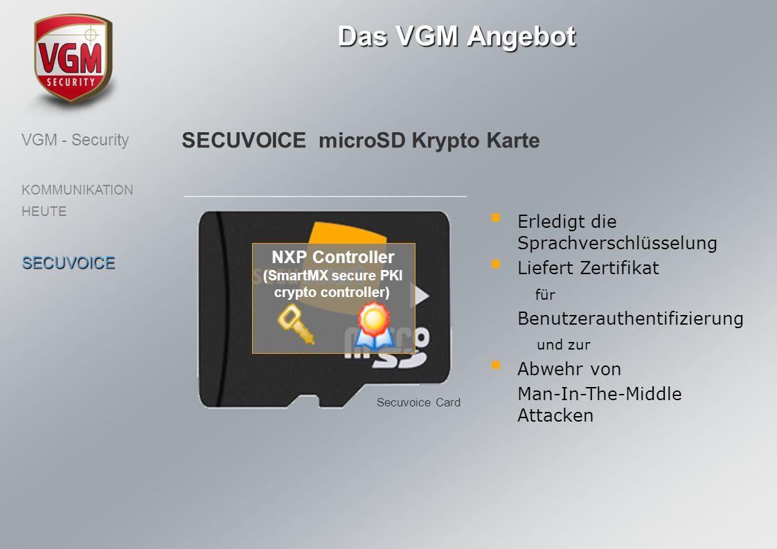 Das VGM Angebot SECUVOICE microSD Krypto Karte