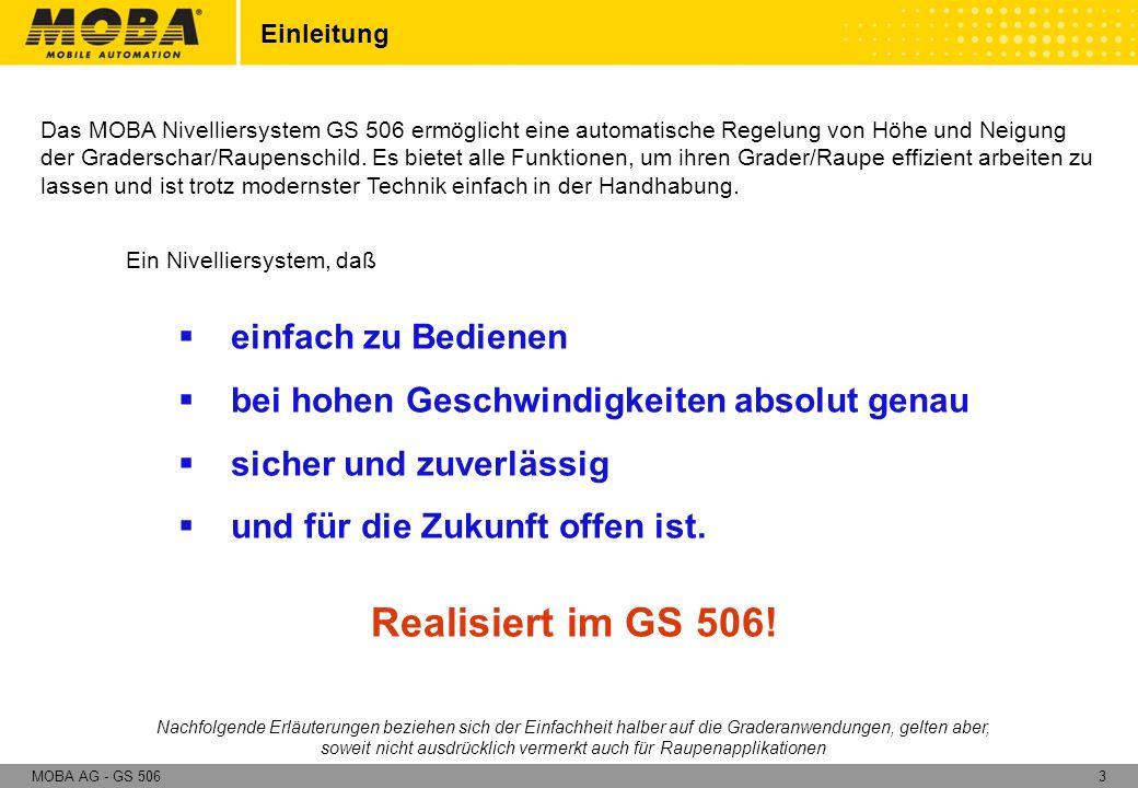Realisiert im GS 506! einfach zu Bedienen