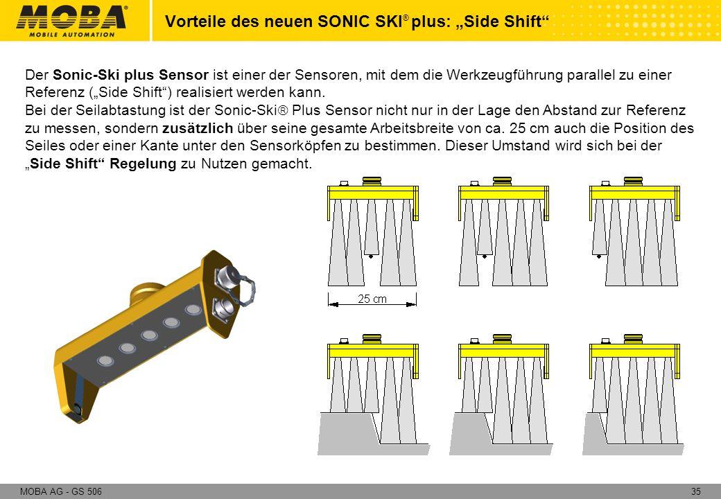 """Vorteile des neuen SONIC SKI® plus: """"Side Shift"""