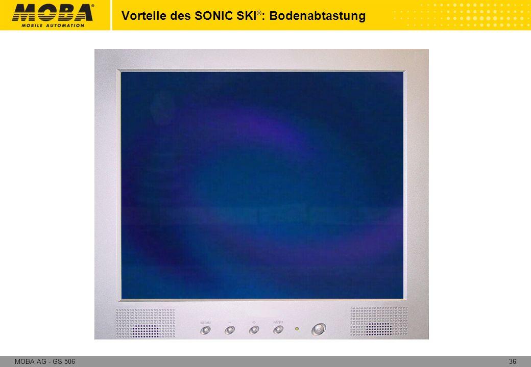 Vorteile des SONIC SKI®: Bodenabtastung