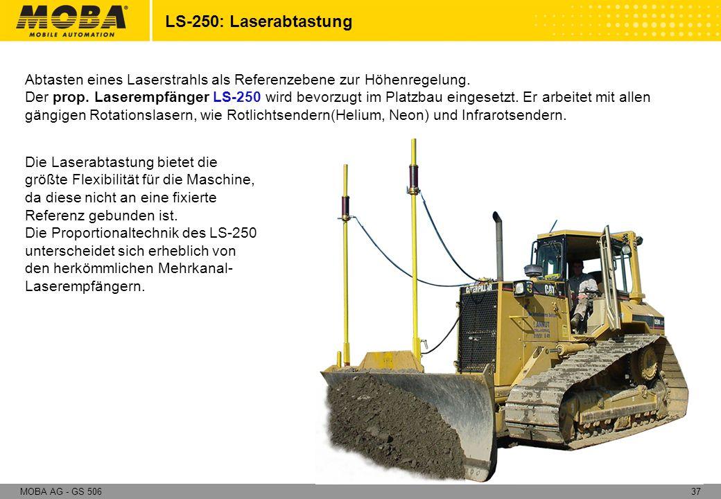 LS-250: Laserabtastung Abtasten eines Laserstrahls als Referenzebene zur Höhenregelung.