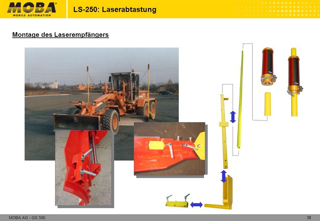 LS-250: Laserabtastung Montage des Laserempfängers