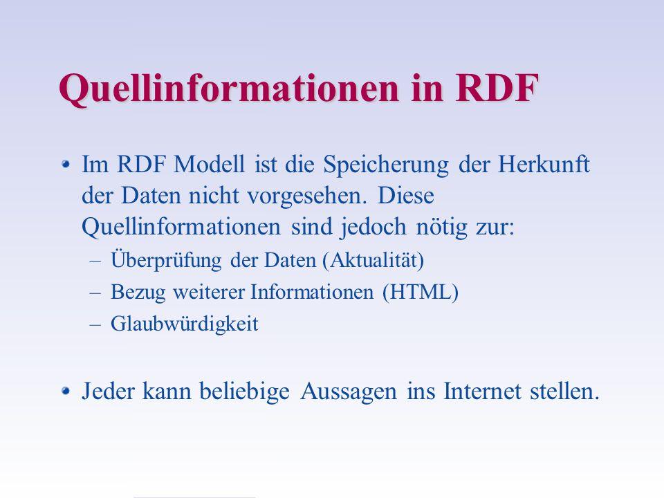 Quellinformationen in RDF