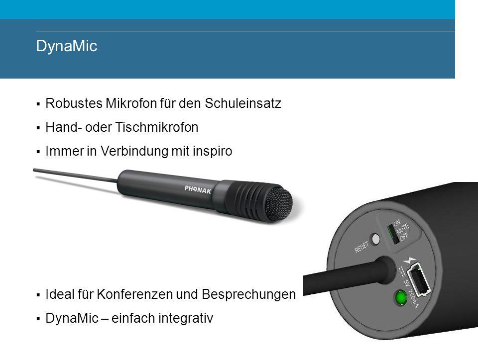 DynaMic Robustes Mikrofon für den Schuleinsatz