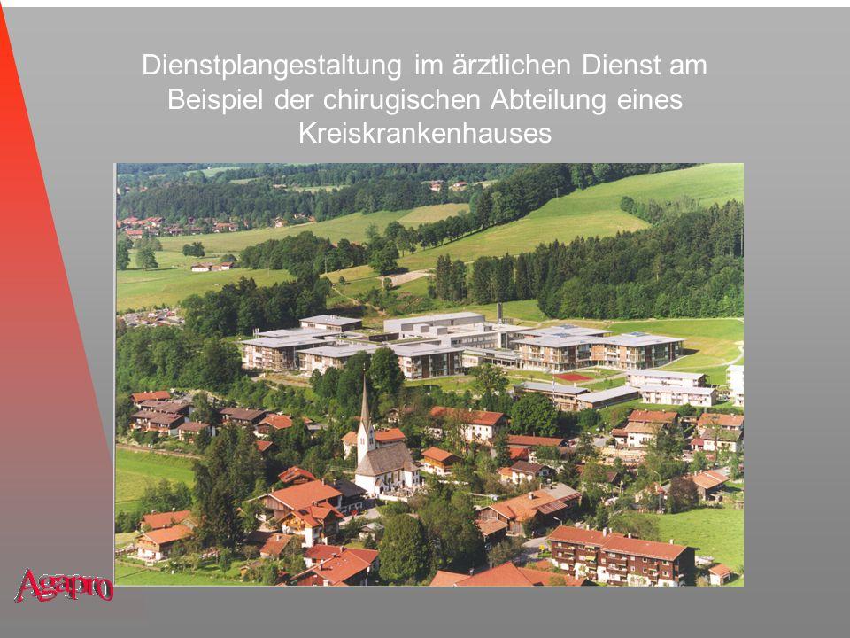 Dienstplangestaltung im ärztlichen Dienst am Beispiel der chirugischen Abteilung eines Kreiskrankenhauses