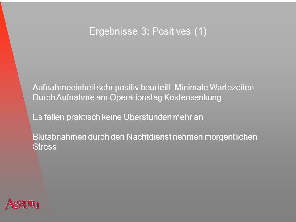 Ergebnisse 3: Positives (1)