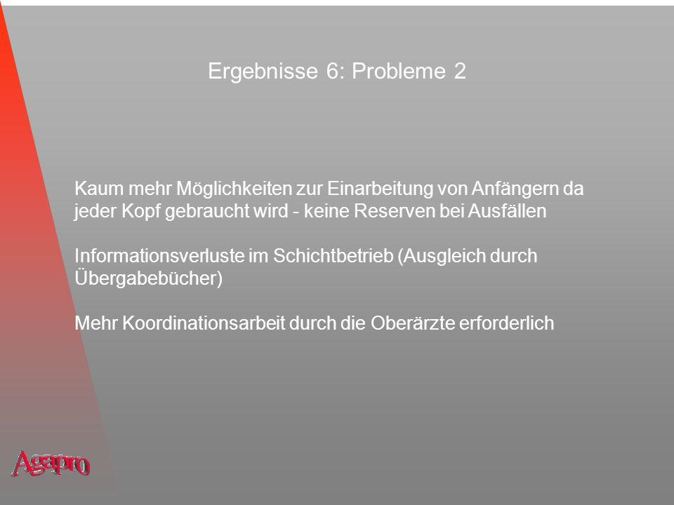Ergebnisse 6: Probleme 2