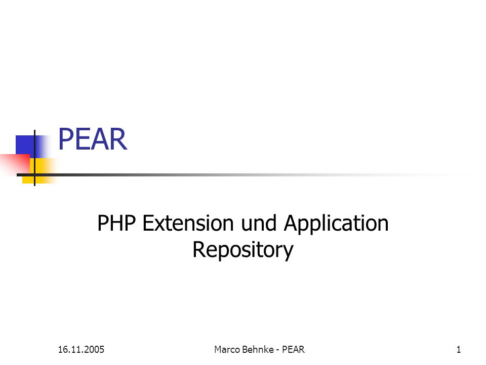 PHP Extension und Application Repository