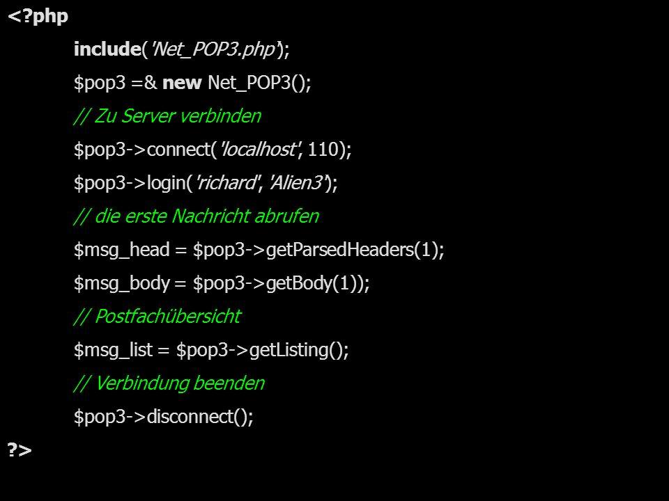 einfaches pop3-Beispiel